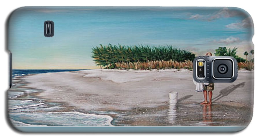Beach Galaxy S5 Case featuring the painting Bean Point by Joan Garcia