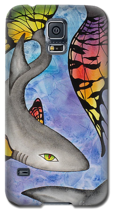 Surreal Galaxy S5 Case featuring the painting Beauty In The Beasts by Lucy Arnold