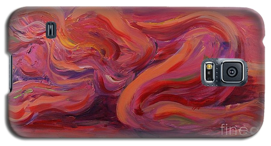 Nude Galaxy S5 Case featuring the painting Beauty by Nadine Rippelmeyer