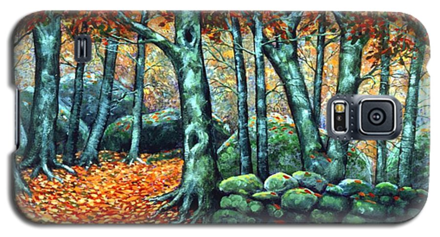 Landscape Galaxy S5 Case featuring the painting Beech Woods by Frank Wilson