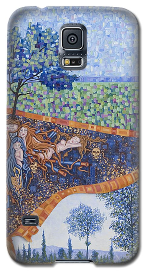 Canvas Galaxy S5 Case featuring the painting Behind The Canvas by Judy Henninger