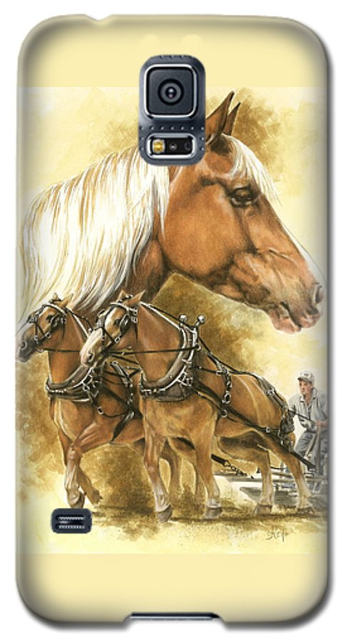 Equus Galaxy S5 Case featuring the mixed media Belgian by Barbara Keith