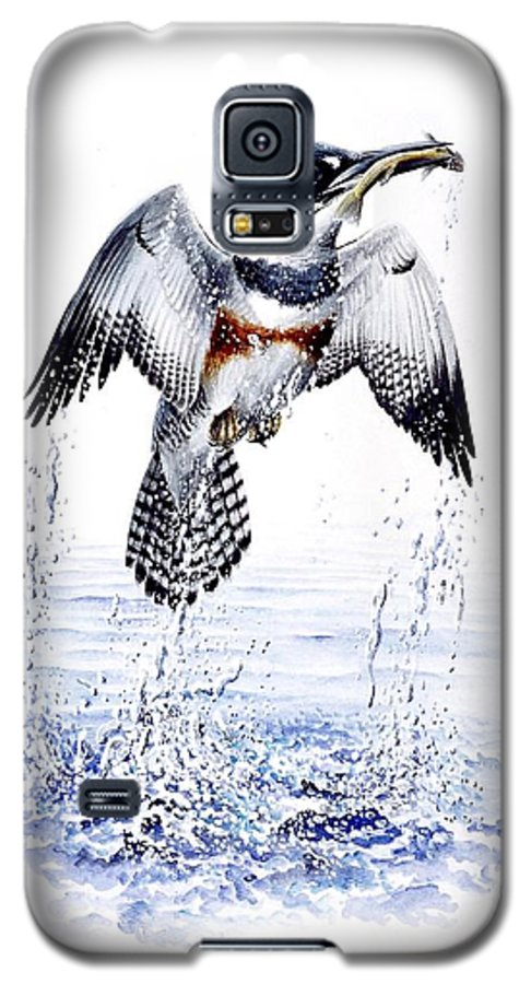 Chris Cox Galaxy S5 Case featuring the painting Belted Kingfisher by Christopher Cox