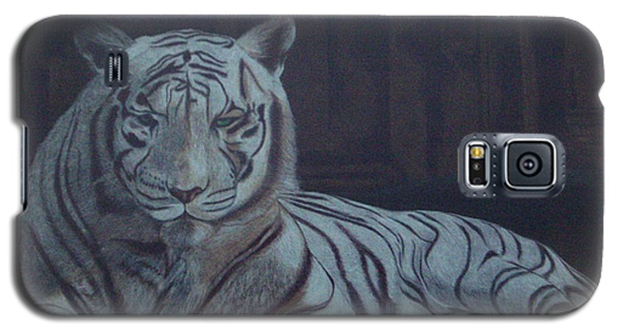 Wild Live Galaxy S5 Case featuring the painting Bengala Tiger by Fanny Diaz