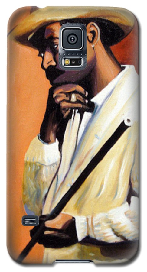 Cuban Art Galaxy S5 Case featuring the painting Benny 2 by Jose Manuel Abraham