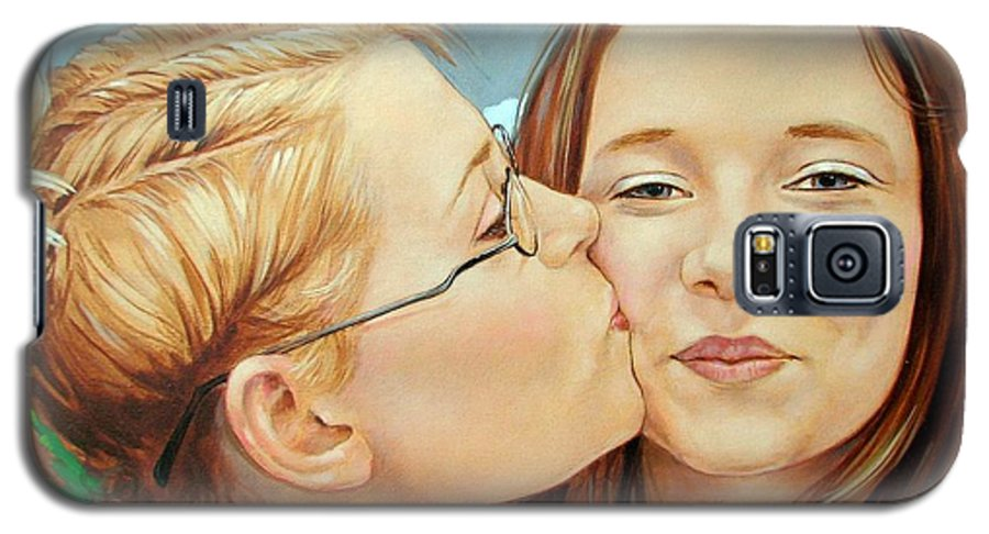Best Friends Galaxy S5 Case featuring the painting Best Buds by Jerrold Carton