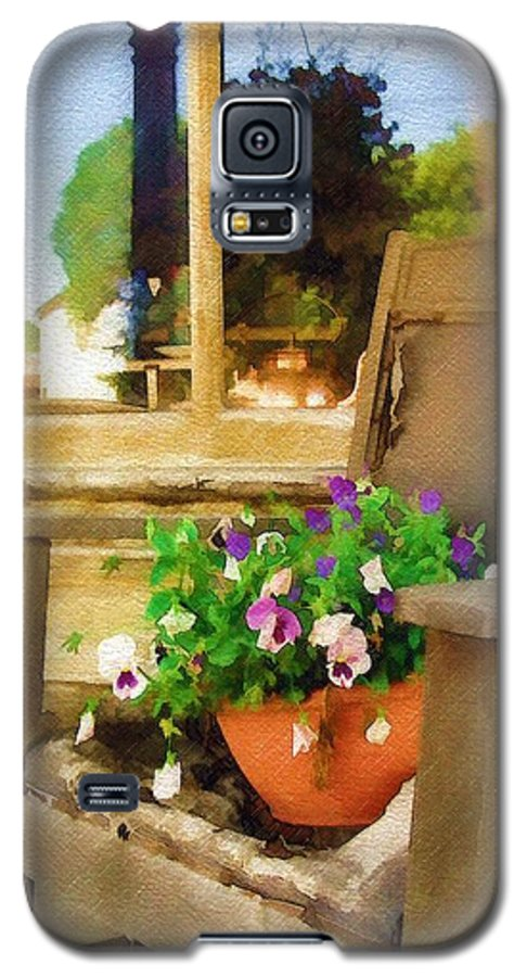 Pansies Galaxy S5 Case featuring the photograph Best Seat In The House by Sandy MacGowan