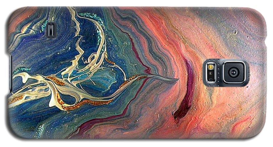 Abstract Galaxy S5 Case featuring the painting Beyond by Patrick Mock