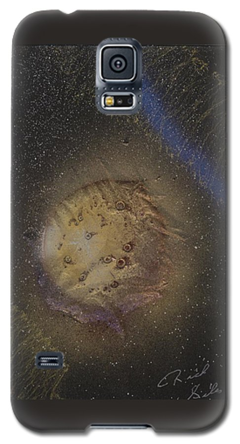 Glass Galaxy S5 Case featuring the painting Beyond by Rick Silas