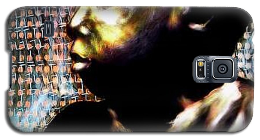 Portrait Galaxy S5 Case featuring the mixed media Big Baby Boy by Chester Elmore
