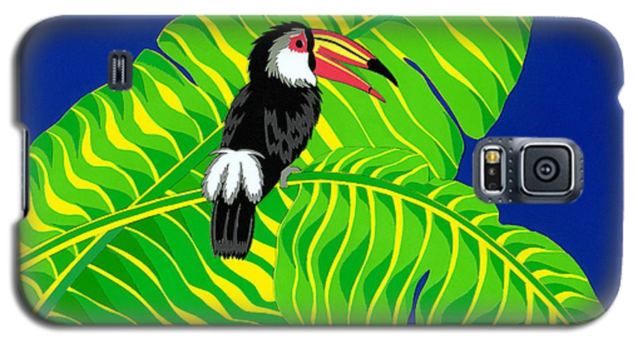 Nature Galaxy S5 Case featuring the drawing Big Billed Bird by Lucyna A M Green