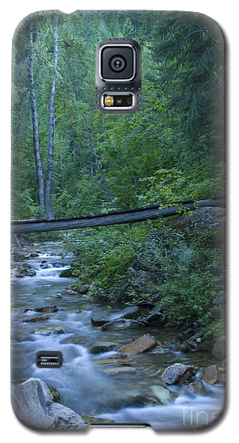 Creek Galaxy S5 Case featuring the photograph Big Creek Bridge by Idaho Scenic Images Linda Lantzy
