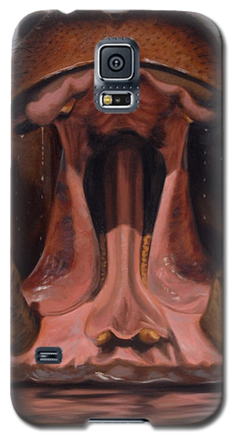 Painting Galaxy S5 Case featuring the painting Big Mouth by Greg Neal