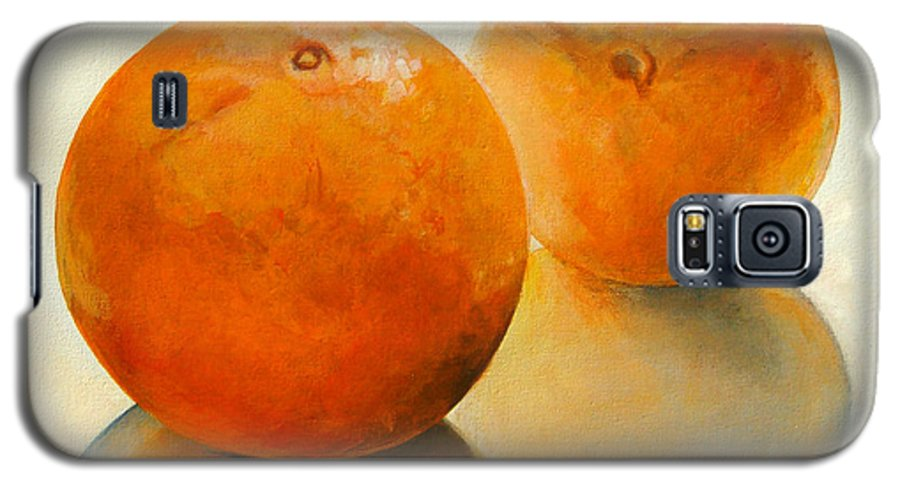 Still Life Galaxy S5 Case featuring the painting Billes Oranges by Muriel Dolemieux