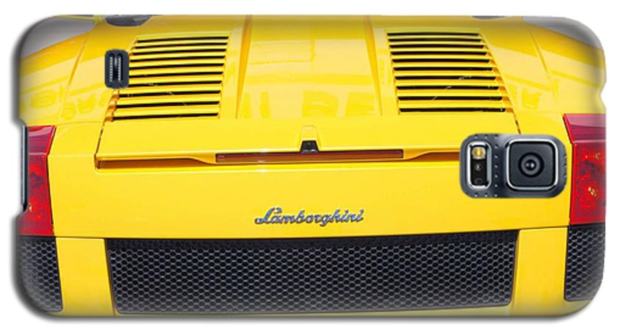 Wheels Galaxy S5 Case featuring the photograph Bill's Lambo by Margaret Fortunato