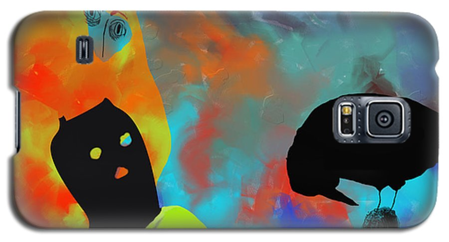 Nature Galaxy S5 Case featuring the painting Bird Flu by Ann Tracy