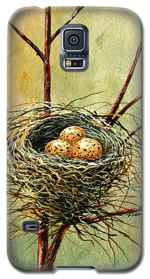 Still Life Galaxy S5 Case featuring the painting Bird Nest by Frank Wilson
