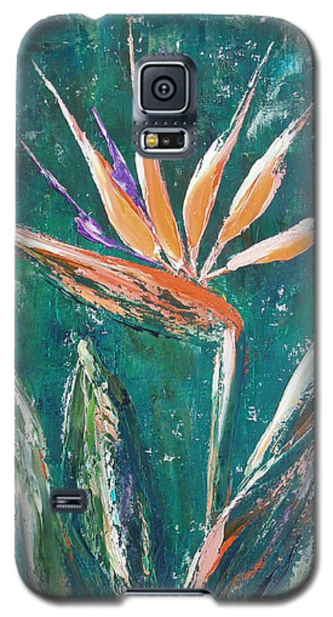 Bird Of Paradise Galaxy S5 Case featuring the painting Bird Of Paradise by Gina De Gorna