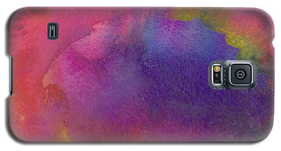 Red Galaxy S5 Case featuring the painting Birth by Christina Rahm Galanis