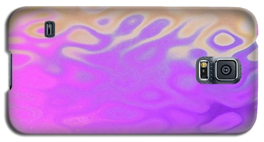 Early Morning.water.waves.reflect.colors.end Of Night.birth Of Sun. Galaxy S5 Case featuring the digital art Birth Of Sun.morning by Dr Loifer Vladimir