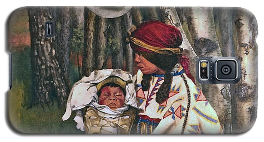 Native American Galaxy S5 Case featuring the painting Birth Spirit by Peter Muzyka