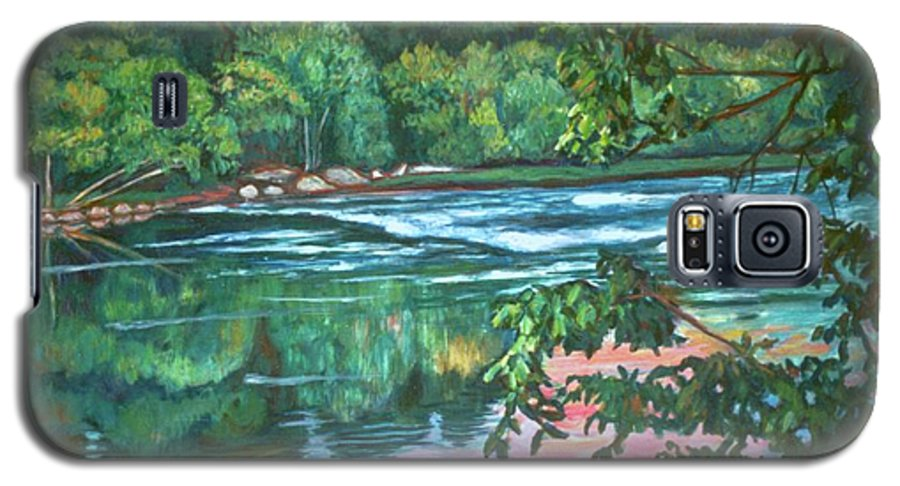 River Galaxy S5 Case featuring the painting Bisset Park Rapids by Kendall Kessler