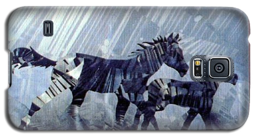 Wildlife Galaxy S5 Case featuring the painting Black And White Nineteen Fifty Six by Rick Silas
