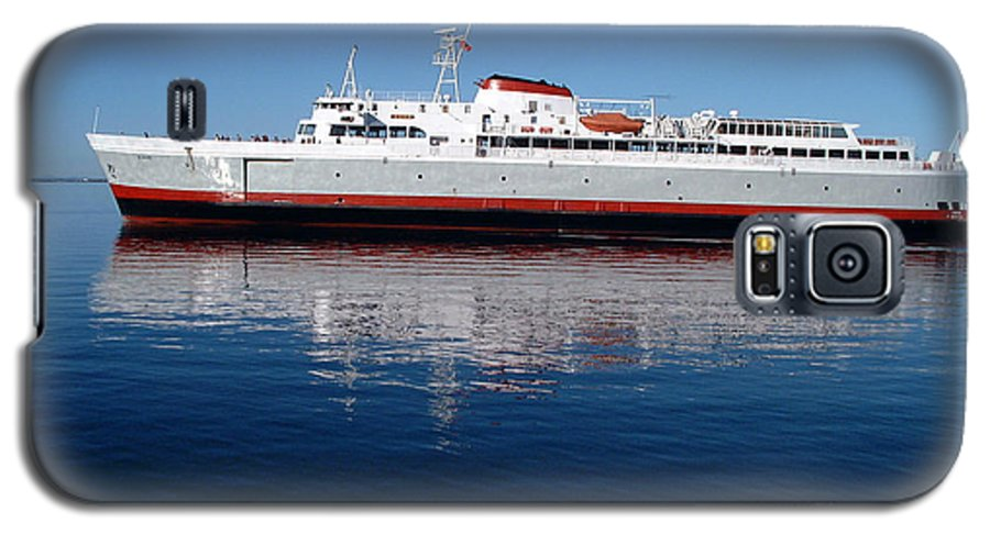 Boat Galaxy S5 Case featuring the photograph Black Ball Ferry by Larry Keahey