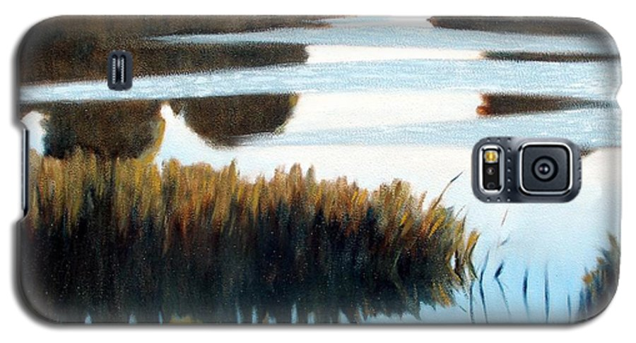 Water Galaxy S5 Case featuring the painting Black Bayou by Kevin Lawrence Leveque