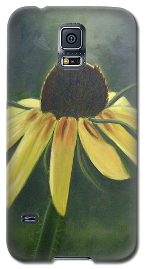 Flower Galaxy S5 Case featuring the painting Black Eyed Susan by Toni Berry
