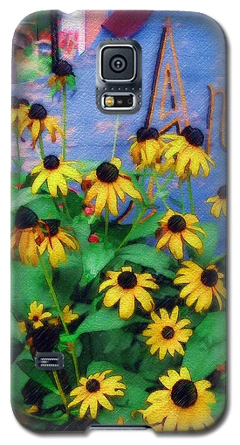 Flowers Galaxy S5 Case featuring the photograph Black-eyed Susans At The Bag Factory by Sandy MacGowan