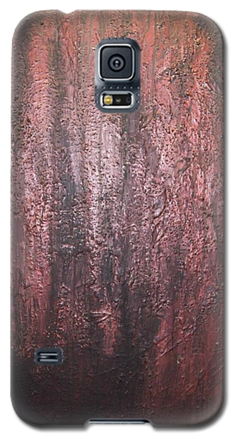 Abstract Galaxy S5 Case featuring the painting Black No 1 by Elizabeth Klecker