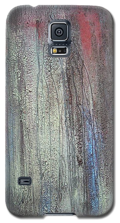 Paintings Galaxy S5 Case featuring the painting Black No 2 Sold by Elizabeth Klecker