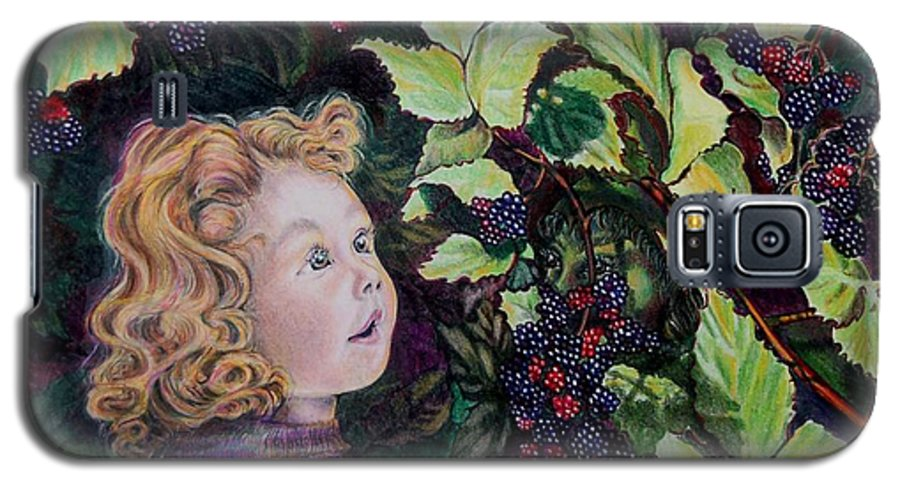 Blackberry Galaxy S5 Case featuring the drawing Blackberry Elf by Susan Moore