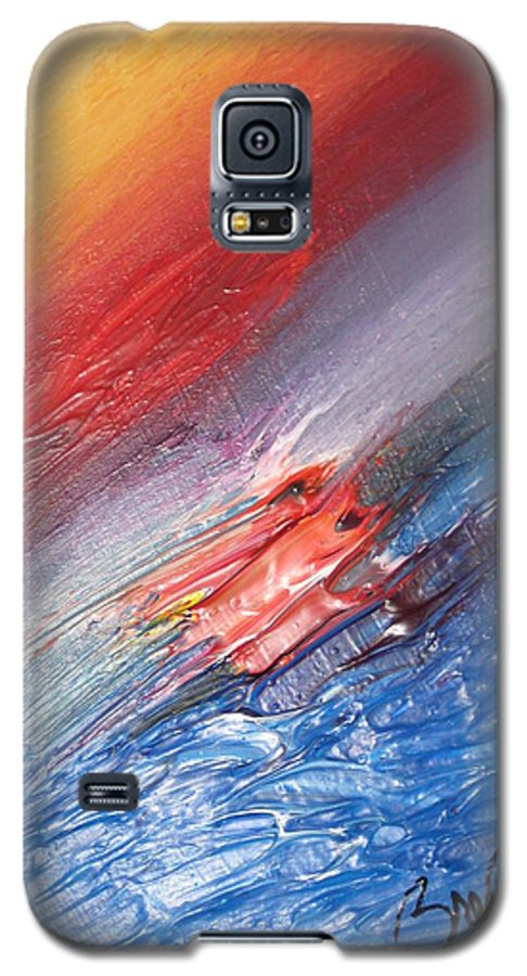 Abstract Galaxy S5 Case featuring the painting Bliss - D by Brenda Basham Dothage