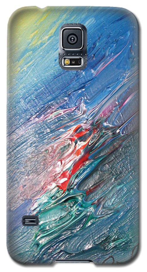 Abstract Galaxy S5 Case featuring the painting Bliss - F by Brenda Basham Dothage