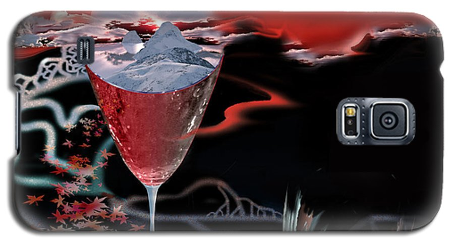Blood Galaxy S5 Case featuring the digital art Blood Red From Pure White by Jennifer Kathleen Phillips