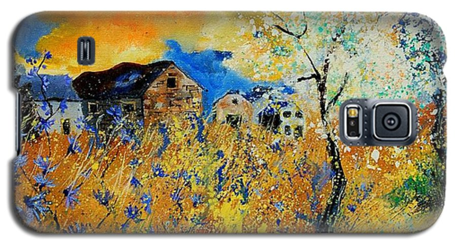 Poppies Galaxy S5 Case featuring the painting Blooming Trees by Pol Ledent