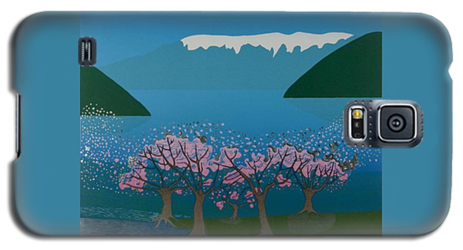 Landscape Galaxy S5 Case featuring the mixed media Blossom In The Hardanger Fjord by Jarle Rosseland