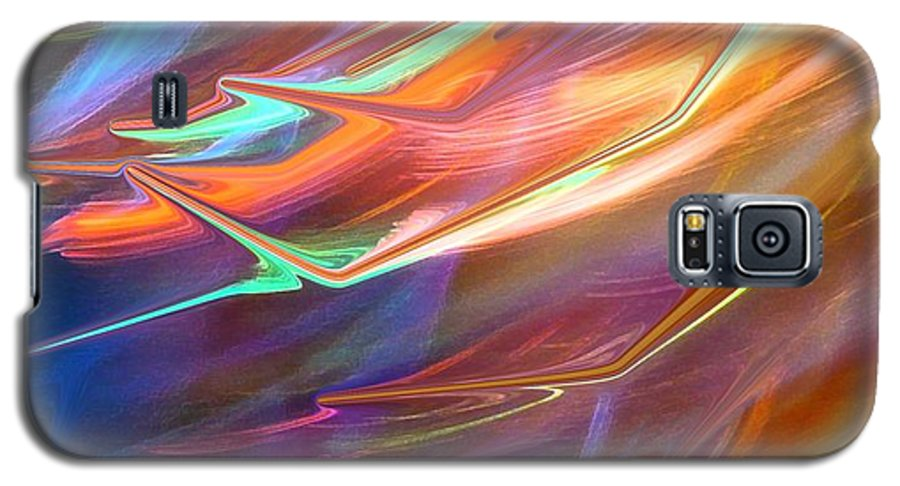 Abstract Galaxy S5 Case featuring the photograph Blown Away by Florene Welebny