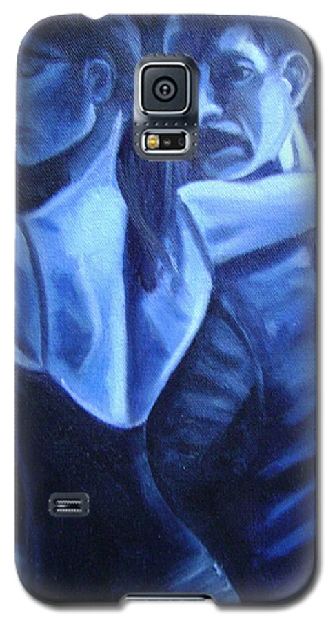 Galaxy S5 Case featuring the painting Bludance by Toni Berry