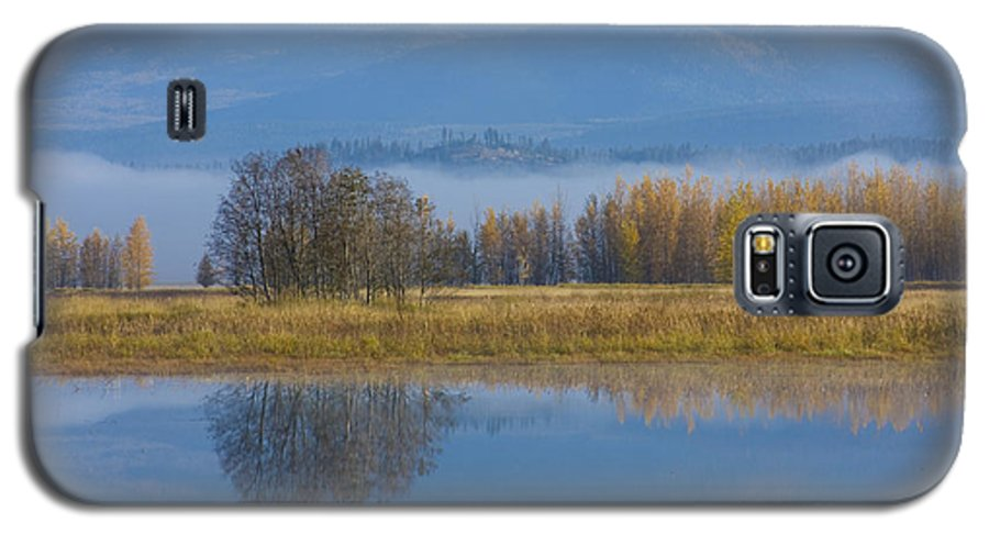 Blue Galaxy S5 Case featuring the photograph Blue And Gold by Idaho Scenic Images Linda Lantzy