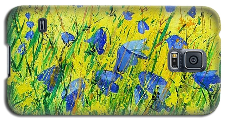 Poppies Galaxy S5 Case featuring the painting Blue Bells by Pol Ledent