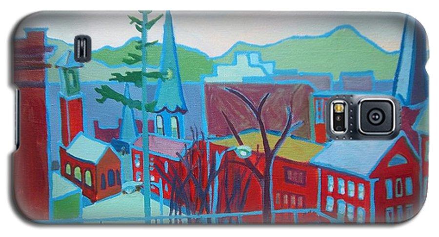 Burlington Galaxy S5 Case featuring the painting Blue Burlington by Debra Bretton Robinson