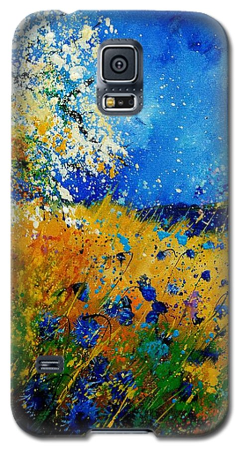 Poppies Galaxy S5 Case featuring the painting Blue Cornflowers 450108 by Pol Ledent