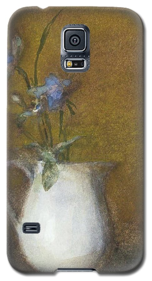 Floral Still Life Galaxy S5 Case featuring the painting Blue Flower by Joan DaGradi