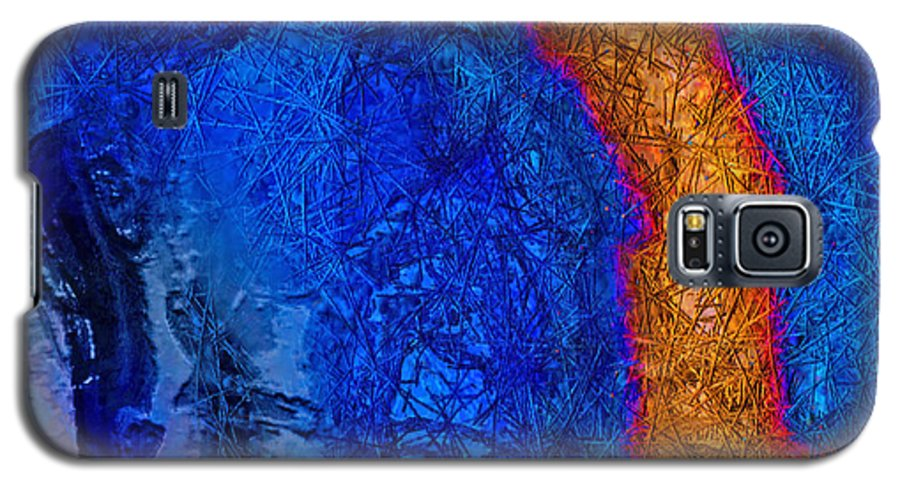 Abstract Galaxy S5 Case featuring the painting Blue Force by Dee Flouton