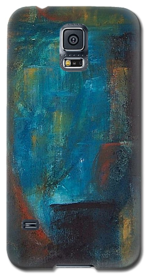 Abstract Galaxy S5 Case featuring the painting Blue Grotto by Karen Day-Vath
