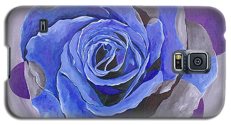 Acrylic Galaxy S5 Case featuring the painting Blue Ice by Herschel Fall
