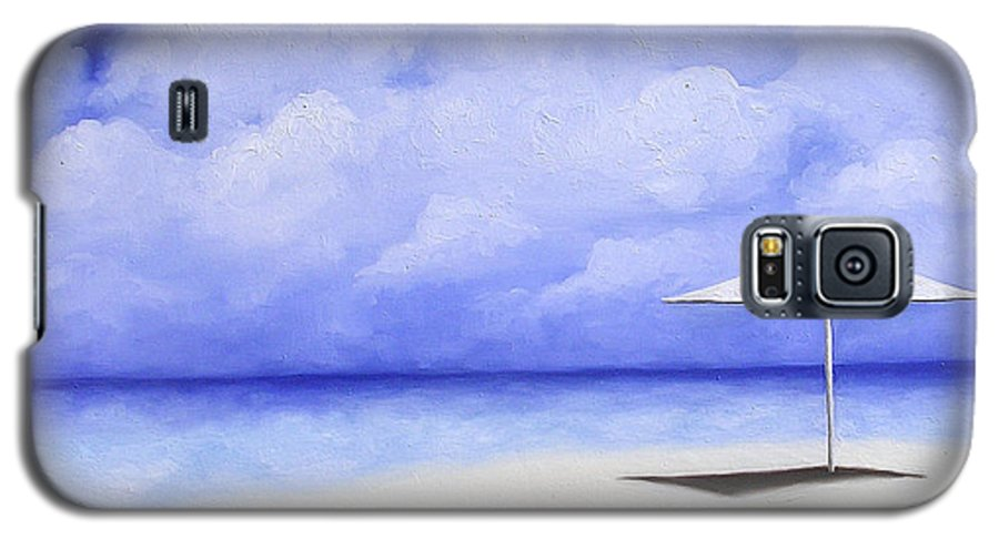 Seascape Galaxy S5 Case featuring the painting Blue Isolation by Trisha Lambi